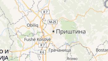 Приштина - детальная карта