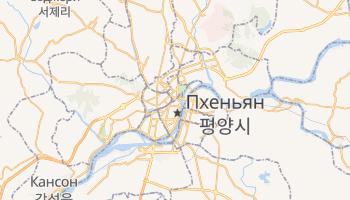 Пхеньян - детальная карта