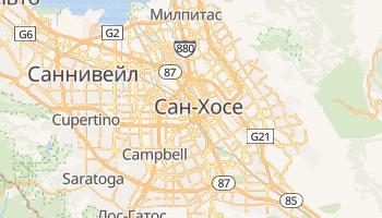 Сан-Хосе (Калифорния) - детальная карта