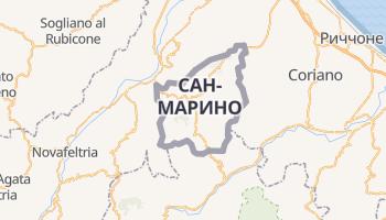 Сан-Марино - детальная карта