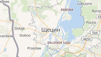 Щецин - детальная карта