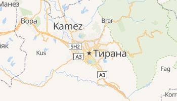 Тирана - детальная карта