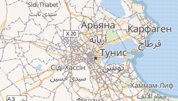 Тунис - детальная карта