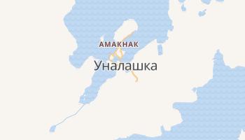 Уналашка - детальная карта