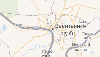Вьентьян - детальная карта