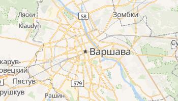 Варшава - детальная карта