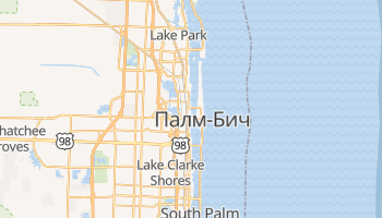 Вест Палм Бич - детальная карта