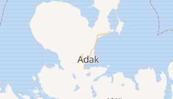Адак - детальна мапа