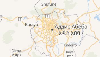 Аддіс-Абеба - детальна мапа