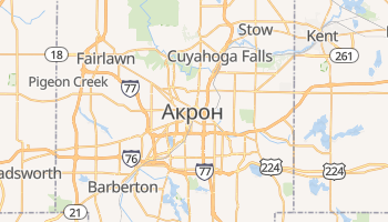 Акрон - детальна мапа