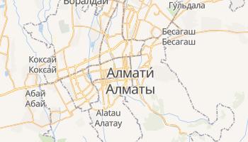 Алмати - детальна мапа
