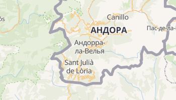 Андорра-ла-Велья - детальна мапа