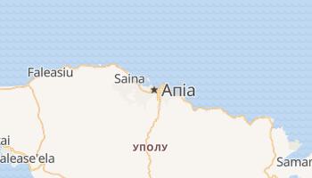 Апіа - детальна мапа