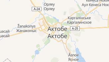 Актобе - детальна мапа