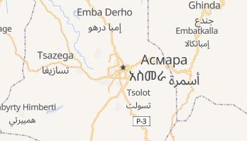 Асмара - детальна мапа