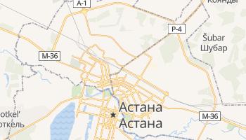 Астана - детальна мапа