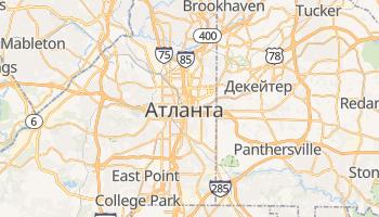 Атланта - детальна мапа