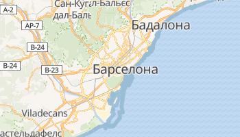 Барселона - детальна мапа