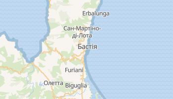 Бастія - детальна мапа