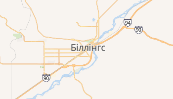 Біллінгс - детальна мапа