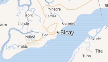 Бісау - детальна мапа