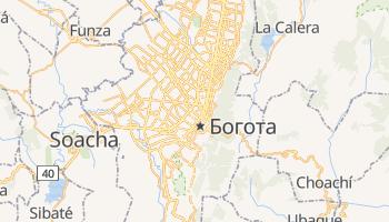 Богота - детальна мапа