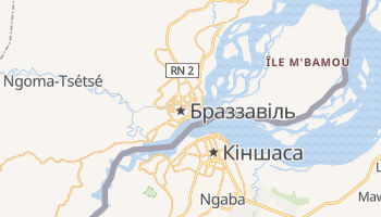 Браззавіль - детальна мапа