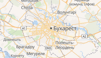 Бухарест - детальна мапа