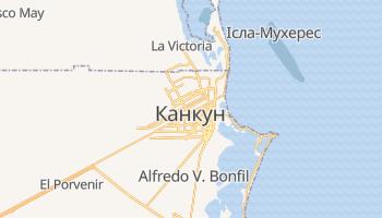 Канкун - детальна мапа