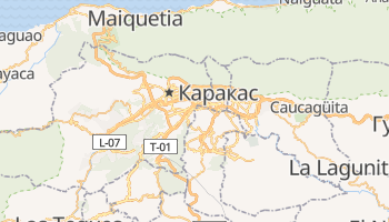 Каракас - детальна мапа
