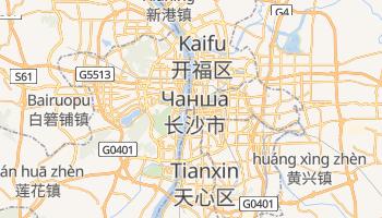 Чанша - детальна мапа