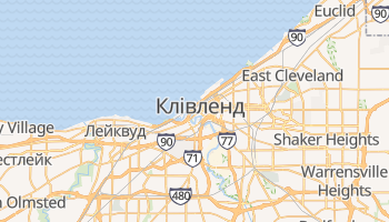 Клівленд - детальна мапа