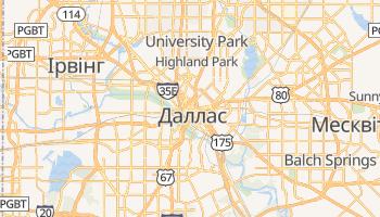 Даллас - детальна мапа