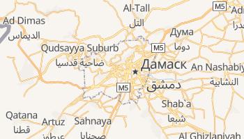 Дамаск - детальна мапа