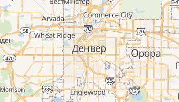 Денвер - детальна мапа