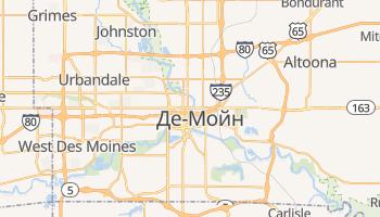 Де-Мойн - детальна мапа