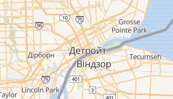 Детройт - детальна мапа