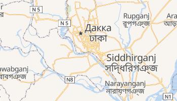 Дакка - детальна мапа