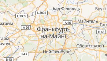 Франкфурт на Майні - детальна мапа