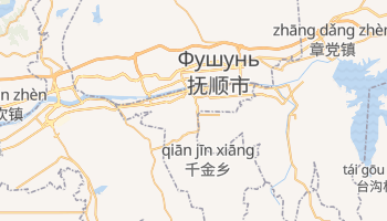 Фушунь - детальна мапа