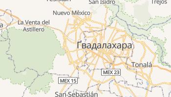 Гвадалахара - детальна мапа