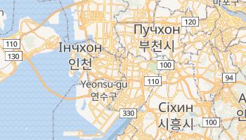 Інчхон - детальна мапа