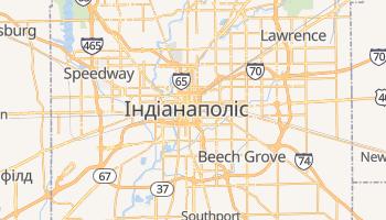 Індіанаполіс - детальна мапа