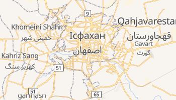 Ісфахан - детальна мапа