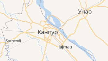 Канпур - детальна мапа