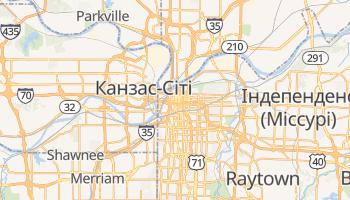 Канзас - детальна мапа