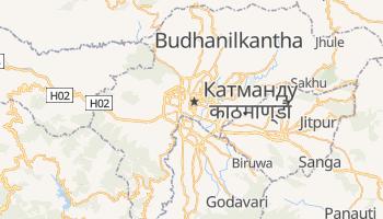 Катманду - детальна мапа