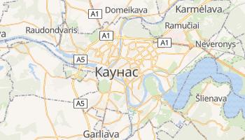 Каунас - детальна мапа