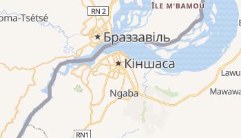 Кіншаса - детальна мапа