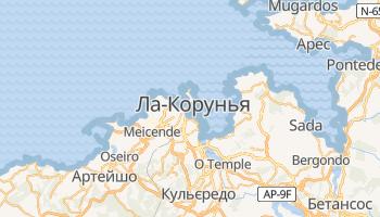 Ла-Корунья - детальна мапа